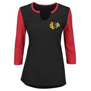 NHL Chicago Blackhawks NHL Plus 3/4 Sleeve
